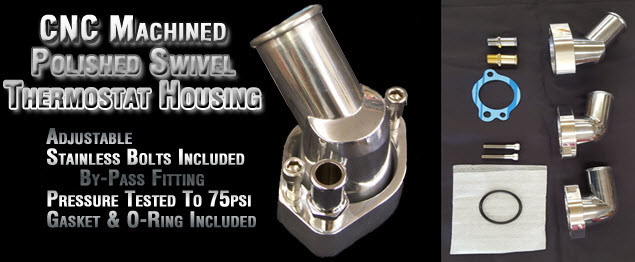 CNC Machined Polished Swivel Thermostat Housing